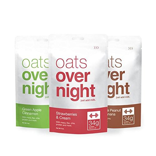 Oats Overnight Variety (3oz per pack) High Protein / Low Sugar (24 Pack)