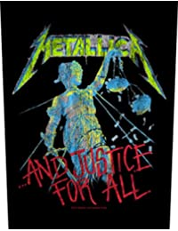 Metallica And Justice For All Back Patch Black