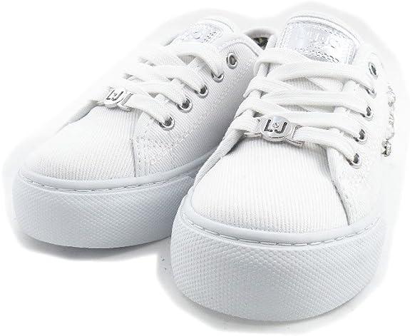 LIU JO GIRL Scarpe Basse Lacci Jeans Strass Ragazza UM22938A