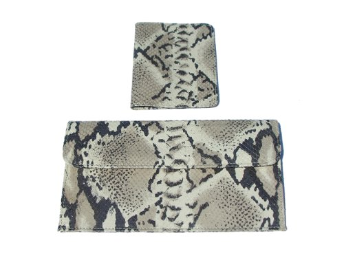 MILANO COLLECTION .LUXURY ITALIAN LEATHER - TRAVEL POUCH & PASSPORT COVER (Python) by PB Travel
