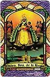 """Ntra Senora de Regla * O.L. of Regla * Bilingual Pocket Prayer Card With Vinyl Sleeve. Full color on the front, with English and Spanish prayer on the back. (2.25""""x3.5""""). Estampa religiosa de bolsillo con funda de vinilo. Todo color en el fre..."""