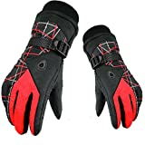 BUOCEANS Winter Snowboard Gloves, Unisex Ski thermal Gloves, Upgraded Ski Gloves, Windproof Thermal Gloves, Outdoor Waterproof Warm Gloves, Warm Winter, Excellent Cycling, Driving, Running, Ski