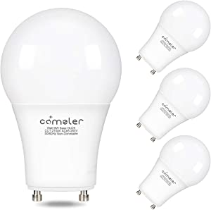 Comzler GU24 Light Bulb 72W Equivalent, 9W A19 LED Bulbs with GU24 Twist-in Base, 2700K Warm White Non-dimmable Lights for Home, Kitchen, Bedroom(4-Pack) (2700K)
