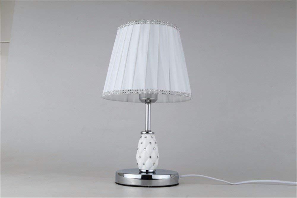 Unbekannt Set Tischlampe-Creative Schreibtischlampe Schlafzimmer Nachttischlampe einfache Moderne Persönlichkeit Nachttischlampe warme Dekoration Tisch,Crystal Strass Knopfschalter