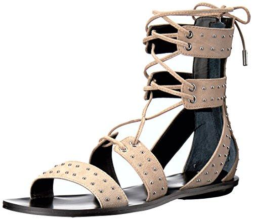 & Kendall Kylie La Lumière Sandale Plate Kkfabia Des Femmes Naturelles