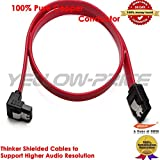Yellow-Price L-Shape with Latch 8 Pack 90 Degree Right-Angle SATA III Cable 6.0 Gbps With Locking Latch 18Inch (Red)
