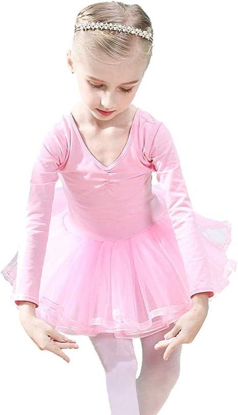 HXQXPY Niñas Traje Vestido Tutú de Ballet Baile Falda de Danza ...