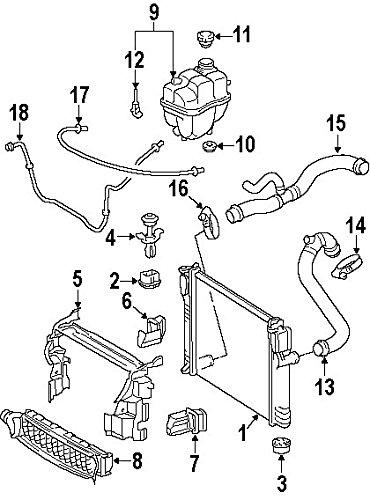 - Mercedes-Benz 211 501 03 82, Radiator Coolant Hose