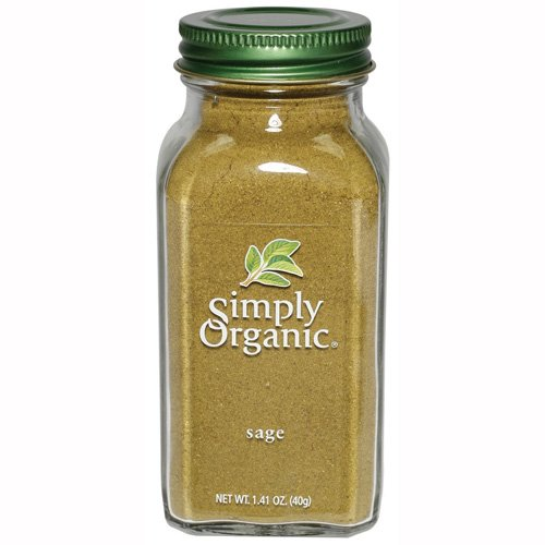Simply Organic Sage Leaf Ground Certified Organic, 1.41-Ounce Containers  (Pack of 3)