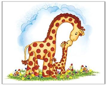 Jungle Art Mom And Baby Giraffe   Childrens Wall Art, Kids Wall Art, Nursery