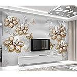 LIWALLPAPER-Carta-Da-Parati-3D-Fotomurali-Fiore-Gioielli-Fiore-Diamante-Camera-da-Letto-Decorazione-da-Muro-XXL-Poster-Design-Carta-per-pareti-200cmx140cm