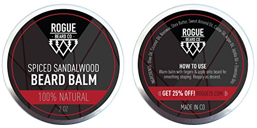 beard balm by rogue beard company sandalwood leave in conditioner with natural oils for. Black Bedroom Furniture Sets. Home Design Ideas