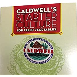 Starter Culture for Vegetables, 2-Packet Caldwell's Fermentation 4 2 pouches - each pouch prepares 4.5 lbs of vegetables Based on 15 years of research VEGAN formula - Lactose-FREE
