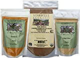 Organic Ceylon Cinnamon Powder, Turmeric Root Powder, and Ginger Root Powder- Variety Pack