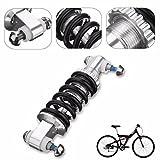 MD Group Bike Rear Suspension Shock Black Metal 450LBS/in Pump Damper Cycling Bicycle Bike Parts