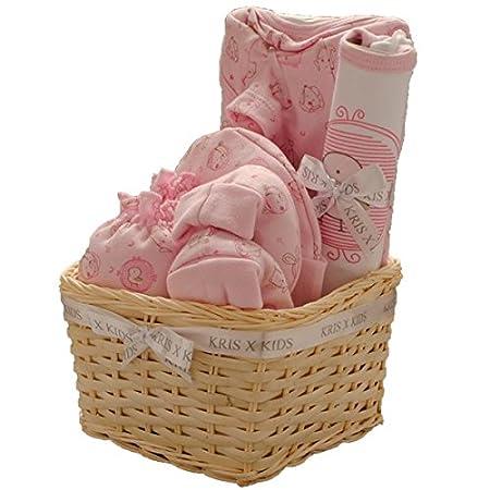 Kris x Kids Baby Set cadeau pour fille ou garçon–Body, Chaussons pour bébé, bonnet et album photo/cadre