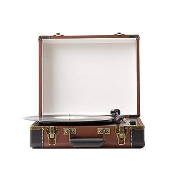 LVSSY Tocadiscos de Vinilo Vintage Tocadiscos Bluetooth para ...