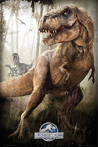 Jurassic World - Movie Poster / Print T-Rex By Stop Online