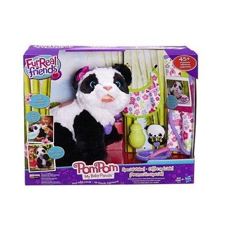 (Fur Real Friends Pom Pom My Baby Panda Deluxe Set Panda Pet Plush)