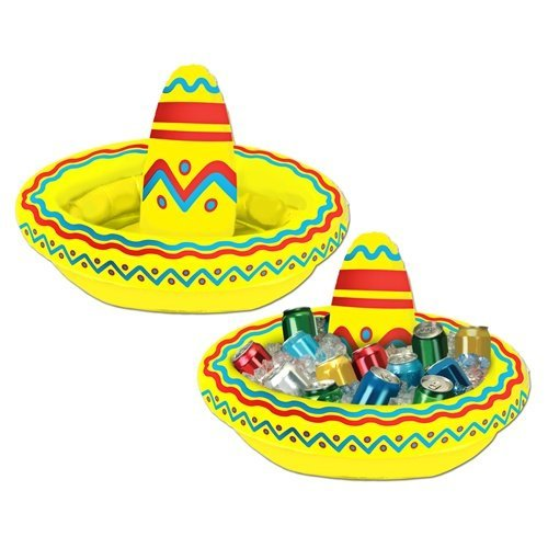 Beistle - Inflatable Sombrero Cooler - - Cooler Fiesta