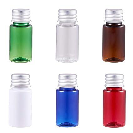 BENECREAT 24 Pack 10ml Botella Portátil de Viaje Botella Vacía de Plástica Envase Especial para Loción