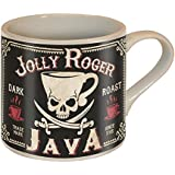 Jolly Roger Java Skull and Swords Coffee Mug - Ceramic Mug by Trixie & Milo - Comes in a fun Gift Box