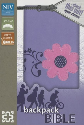 NIV, Backpack Zipper Bible, Imitation Leather, Purple/Pink, Red Letter (Imitation Leather Zipper)