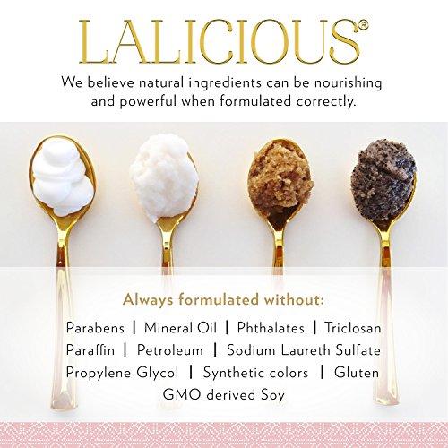 LALICIOUS Sugar Kiss Extraordinary Whipped Sugar Scrub - Cane Sugar Body Scrub with Coconut Oil & Honey, No Parabens (16 Ounces) by LaLicious (Image #6)