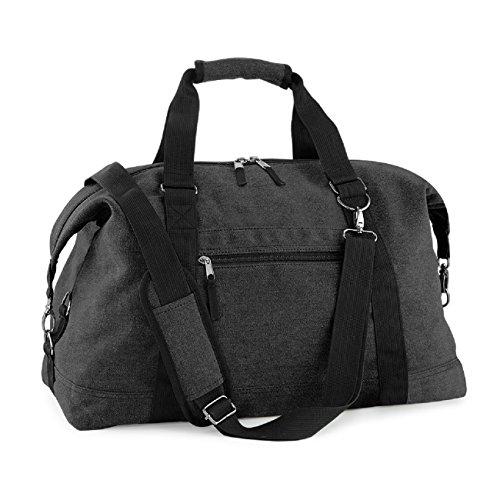 BagBase-Bolso de lona, diseño de ciudad en fin de semana, negro (Negro) - B00719XLQ8 negro