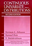 Continuous Univariate Distributions, 2nd Edition,Vol. 2