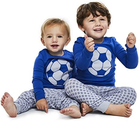 12m-8y Boys Pajamas SOCCER and BASKETBALL 2 Piece 100/% Super Soft Cotton by Bluenido