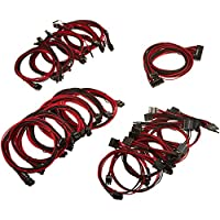 EVGA Black & Red 1600 G2/P2/T2 Power Supply Cable Set, Individually Sleeved (100-G2-16KR-B9)