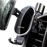 Smartphone Car Mount Air Vent DesertWest Auto Clamping Gravity Hands-Free Phone Holder for Car Compatible with iPhone 11 Pro Max/ XR/XS Max/XS/X/8/8 Plus/7/7 Plus, Galaxy S10/S10 Plus/S9/Note