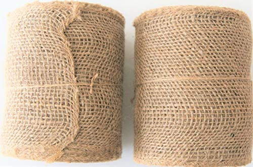 Natural Burlap Ribbon Roll 5.5