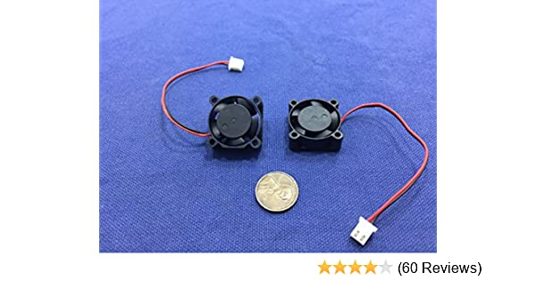 2 Pieces BXR 25mm X 25 X 10 Brushless Cooling Fan Small Micro Flow CFM 12v C11