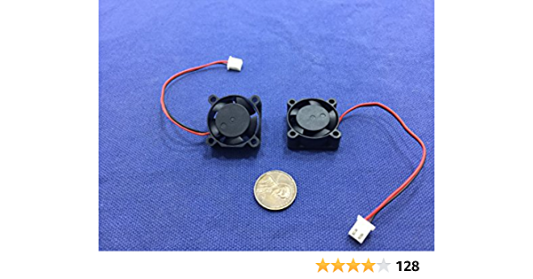 Blacell 2 Pieces BXR 25mm X 25 X 10 Brushless Cooling Fan Small Micro Flow CFM 12v C11