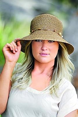 Wallaroo Hat Company Women's Naomi Sun Hat - Natural Woven Fibers - UPF50+
