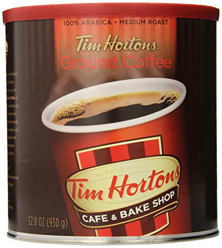 Tim Horton's 100% Arabica Medium Roast, Original Blend, Ground Coffee, 32.8 Ounce Can
