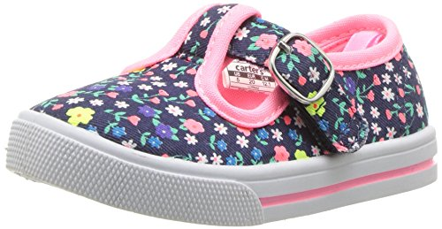 5m Shoes (carter's Girls' Lorna Casual T-Strap Mary Jane Flat, Print, 5 M US Toddler)