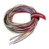 BNTECHGO 28 Gauge Silicone Wire Kit Ultra Flexible 10 Color High Resistant 200 deg C 600V Silicone Rubber Insulation 28 AWG Silicone Wire 16 Strands of Tinned Copper Wire Stranded Wire Model Cable