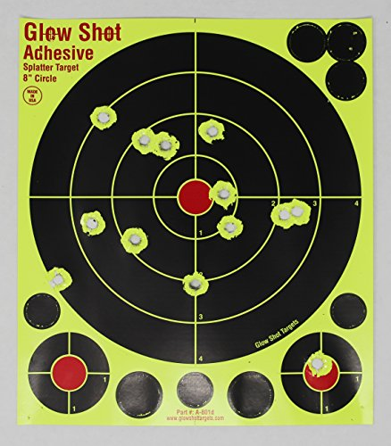 Targets - GlowShot - 25 and 75 packs - DayGlo - See Your Hits Instantly - Gun and AirSoft Targets (DayGlo, 75 pack) ()