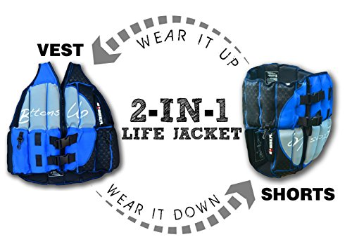 Human Bobber Bottoms Up Life Jacket – Human Life Vest – Saddle Flotation Device – Swim Life Jacket for Adults or Children - Coast Guard Approved for Pool or Boat- AS SEEN ON Shark Tank