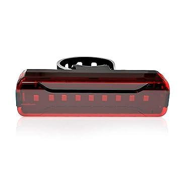 CawBing Fahrradlampe Wiederaufladbare LED USB Mountainbike R/ücklicht R/ücklicht MTB Wasserdicht Sicherheitswarnung Fahrrad R/ücklicht