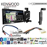 Volunteer Audio Kenwood DNX574S Double Din Radio Install Kit with GPS Navigation Apple CarPlay Android Auto Fits 2011-2014 Nissan Juke