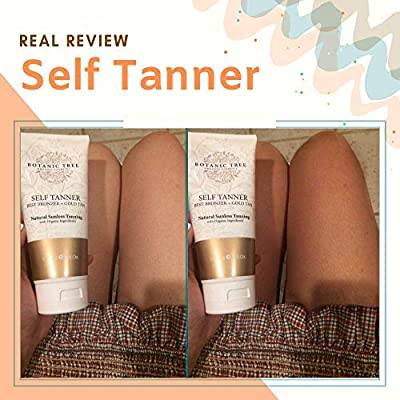 Botanic Tree Self Tanner, Sunless Tanner Natural and Organic Ingredients, Self Tanning Lotion for Body and Face-All Skin Types w/Avocado,Apricot,Coconut,Jojoba,Moringa.