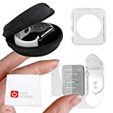 DURAGADGET Exclusive Apple iWatch Custom Bundle - Hard Shell EVA Storage Case for NEW 2015 Apple Watch, Sport & Edition (42mm), Plus Translucent 42mm TPU Cover AND 42mm Screen Protector!