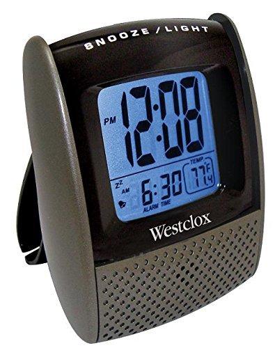 Westclox Glass Clock - Westclox 72018CN Folding Alarm Clock with Snooze