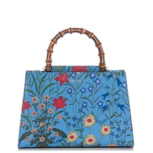 Gucci Flora Azure Medium Floral Handbag Italy Bag Handbag Flower Bamboo New