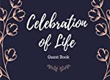Celebration of Life: Guest Book, Blue & Pink, Classic Memorial Guest Book & Funeral Guest Book, Wake, Condolence Book, Church, Memorial Service (Elite Guest Book)