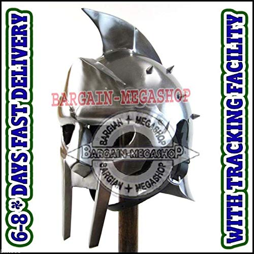 Gladiator Helm (uniquewonderitems Fully Wearable Gladiator Movie Helmet Roman Arena Knight Maximus Armour Helm LM1)